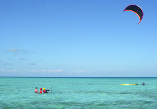 Kitesurfing spot Belize