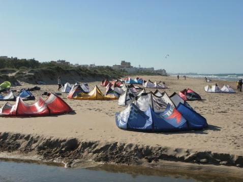 Kitesurfing Piles