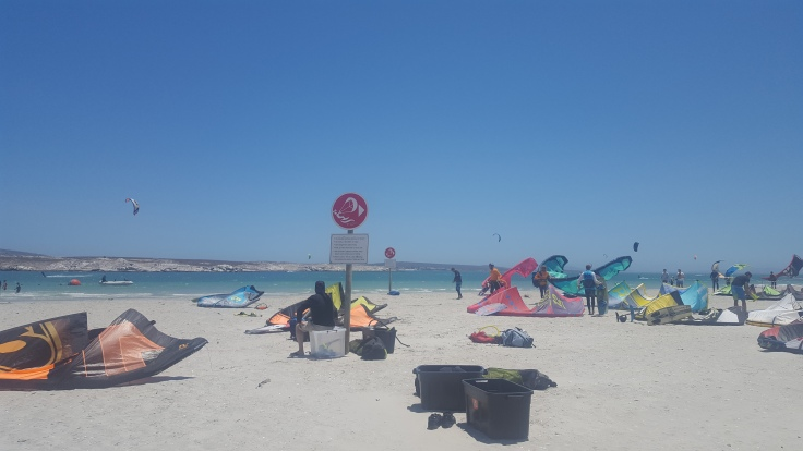 Main Beach- kitesurfing Langebaan