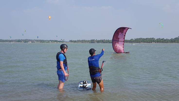 Teaching at Kalpitiya lagoon