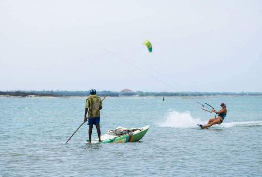 Kiting and fishing at Mannar
